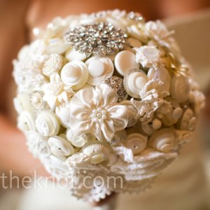 Button and Brooch Bouquet